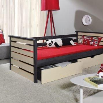 Kala Vollholz Kinderbett mit Bettkasten