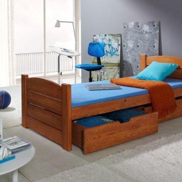 Roma Vollholz Kinderbett mit Bettkasten