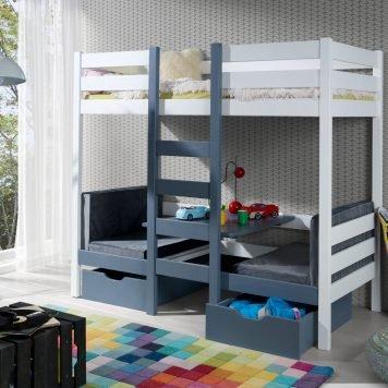 Stockbett Bari mit Bettkasten – umänderbar