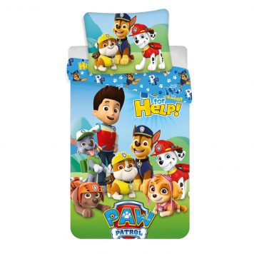 paw patrol bettwaesche set